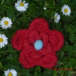 Vilt bloem middel rood gewaarmerkt