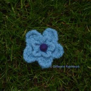 Vilt z2014 blauw bloem middel gewaarmerkt