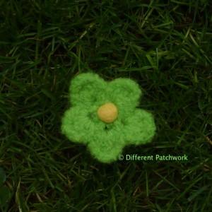 Vilt z2014 groen bloem klein gewaarmerkt