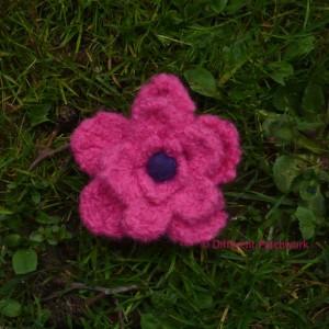 Vilt z2014 roze bloem groot gewaarmerkt